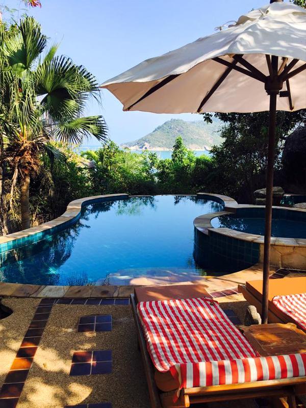 Asien-Reiseziel-Pool