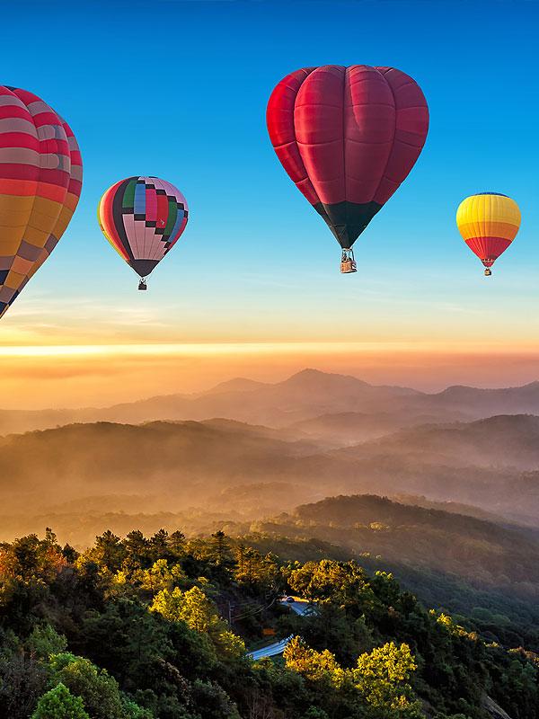 Ballonfahrt in Asien