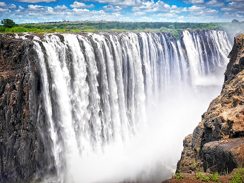 Wasserfall in Afrika